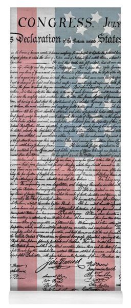 Declaration Of Independence Yoga Mat