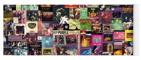 Deep Purple Collage Yoga Mat