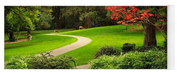 Deer In Lithia Park Yoga Mat