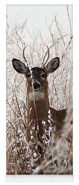 Deer In Winter Yoga Mat