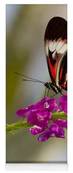 delicate Piano Key Butterfly Yoga Mat