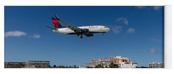Delta 737 St. Maarten Landing Yoga Mat