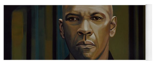 Denzel Washington In The Equalizer Painting Yoga Mat