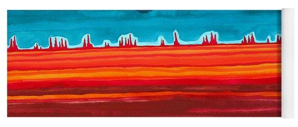 Desert Cities Original Painting Sold Yoga Mat