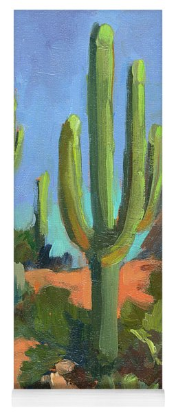 Desert Morning Saguaro Yoga Mat