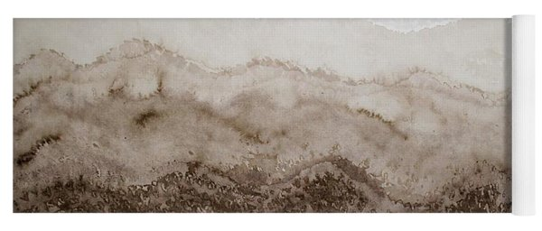 Desert Mountain Mist Original Painting Yoga Mat