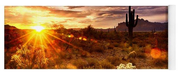 Desert Sunshine  Yoga Mat