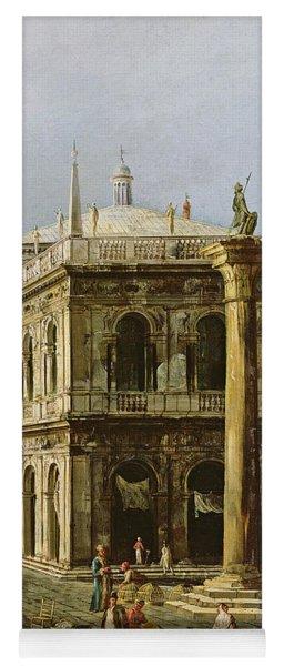 Detail Of Palazzo Della Zecca Yoga Mat