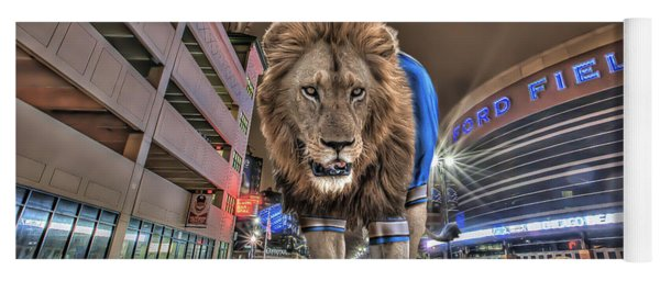 Detroit Lions At Ford Field Yoga Mat