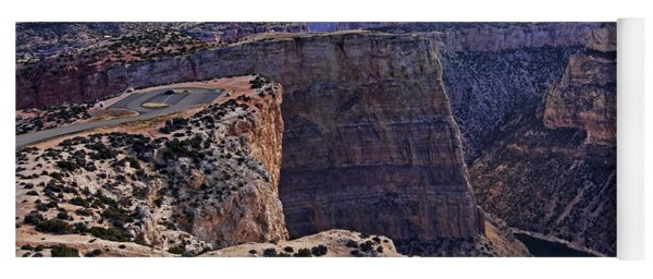 Yoga Mat featuring the photograph Devil's Overlook Bighorn Canyon National Recreation Area by Gary Beeler