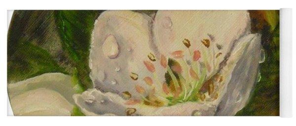 Dew Of Pear's Blooms Yoga Mat
