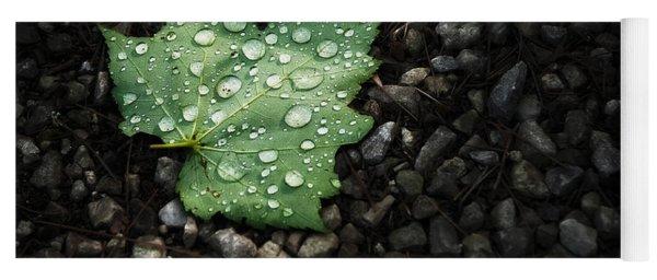 Dew On Leaf Yoga Mat