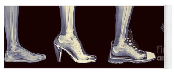 Different Shoes X-ray  Yoga Mat
