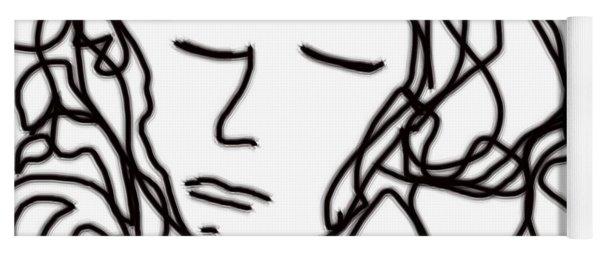 Digital Doodle Yoga Mat