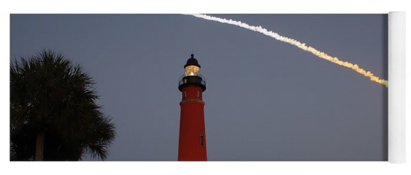 Discovery Booster Separation Over Ponce Inlet Lighthouse Yoga Mat