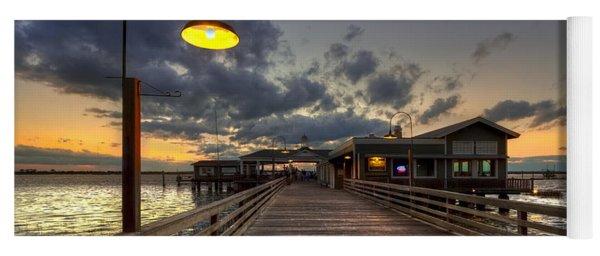 Dock Lights At Jekyll Island Yoga Mat