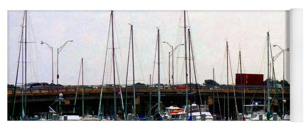 Docked Boats Norfolk Va Yoga Mat