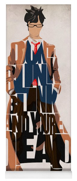 Doctor Who Inspired Tenth Doctor's Typographic Artwork Yoga Mat