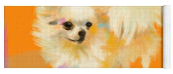 Dog Chihuahua Orange Yoga Mat