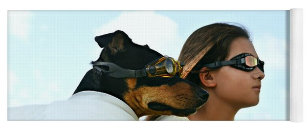 Dog Is My Co-pilot Yoga Mat