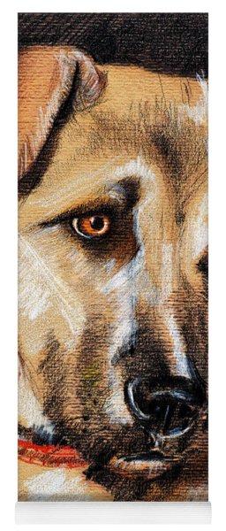Dog Portrait Drawing Yoga Mat