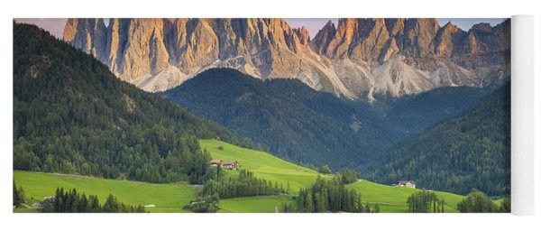 Yoga Mat featuring the photograph Dolomites From Val Di Funes by Brian Jannsen