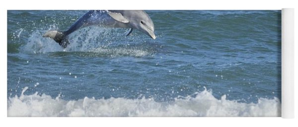 Dolphin In Surf Yoga Mat