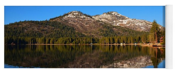 Donner Lake Cabin Reflection Yoga Mat