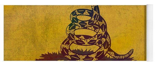 Don't Tread On Me Gadsden Flag Patriotic Emblem On Worn Distressed Yellowed Parchment Yoga Mat