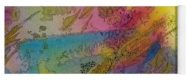 Doodle With Color Yoga Mat