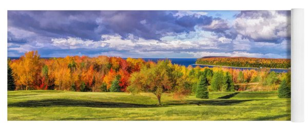 Door County Grand View Scenic Overlook Panorama Yoga Mat