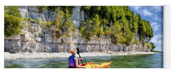 Door County Kayaking Around Rock Island State Park Yoga Mat