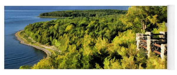 Door County Peninsula State Park Svens Bluff Overlook Yoga Mat