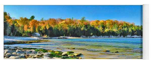 Door County Wisconsin Bay Panorama Yoga Mat