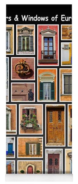 Doors And Windows Of Europe Yoga Mat
