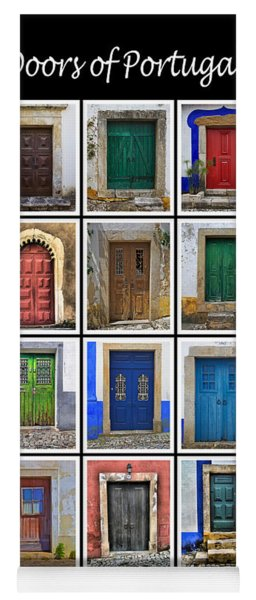 Doors Of Portugal Yoga Mat