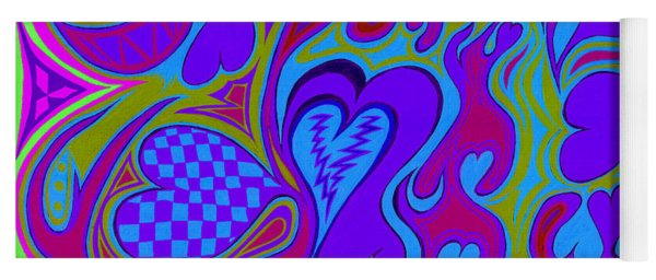 Double Broken Heart Yoga Mat