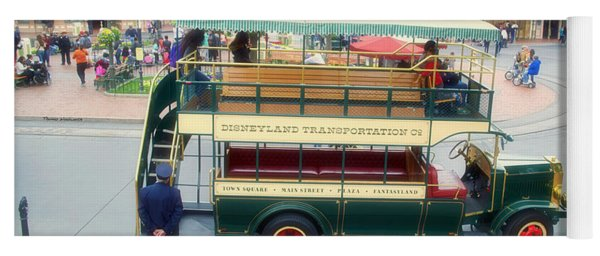 Double Decker Bus Main Street Disneyland 02 Yoga Mat