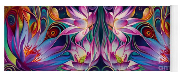 Double Floral Fantasy 2 Yoga Mat