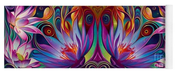 Double Floral Fantasy Yoga Mat