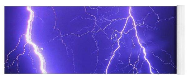 Double Triple Blue Lightning Yoga Mat