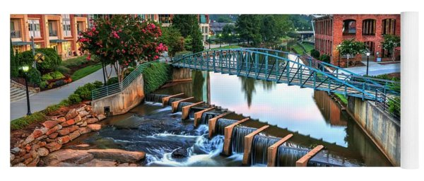 Downtown Greenville On The River Yoga Mat