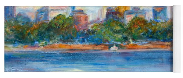 Downtown Minneapolis Skyline From Lake Calhoun II - Or Commission Your City Painting Yoga Mat