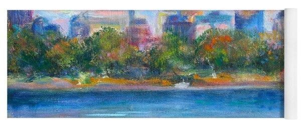 Downtown Minneapolis Skyline From Lake Calhoun Yoga Mat