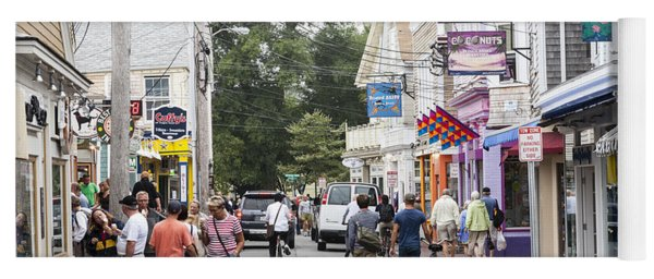 Downtown Scene In Provincetown On Cape Cod In Massachusetts Yoga Mat