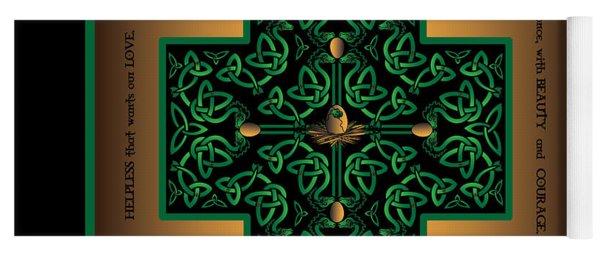 Dragon Egg Celtic Cross Yoga Mat