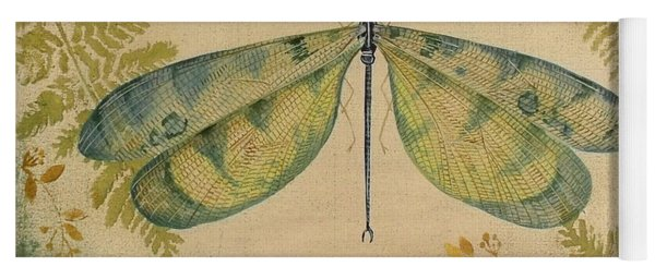 Dragonfly Among The Ferns-1 Yoga Mat
