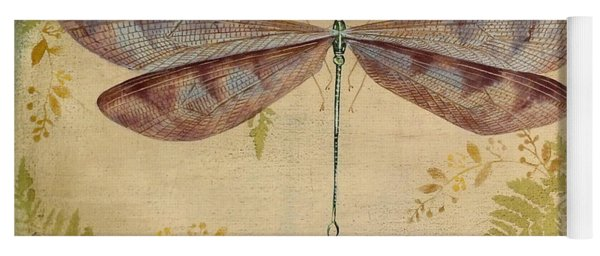 Dragonfly Among The Ferns-3 Yoga Mat