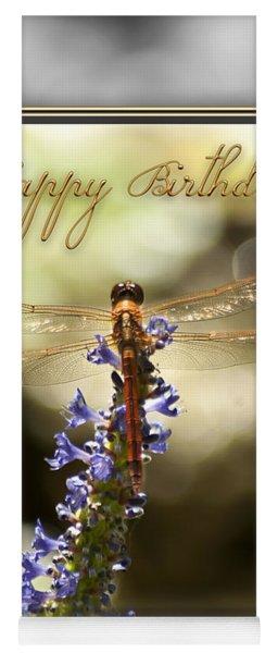 Dragonfly Birthday Card Yoga Mat