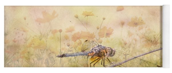 Yoga Mat featuring the photograph Dragonfly Dreams by Judy Hall-Folde